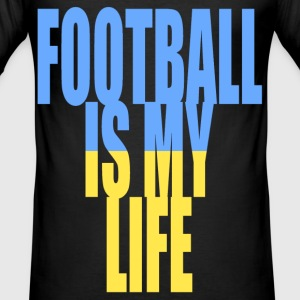 football is my life ukraine T-Shirts - Men's Slim Fit T-Shirt
