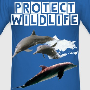 Dolphin_2 T-Shirts - Men's Slim Fit T-Shirt