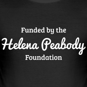 Funded by the Helena Peabody Foundation T-Shirts - Men's Slim Fit T-Shirt