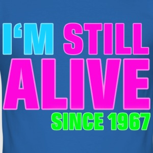 NEON - Birthday - still alive since 1967 (uk) T-Shirts - Men's Slim Fit T-Shirt