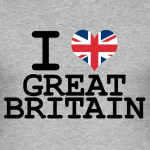 i love Great Britain T-Shirts - Men's Slim Fit T-Shirt