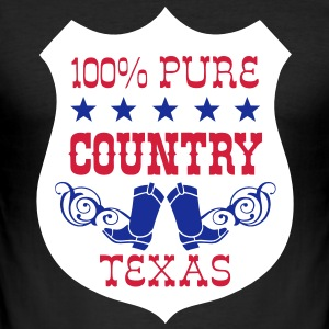 100% pure country texas  Tee shirts - Tee shirt près du corps Homme