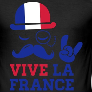 France fashionable cycling championship winner football gold tour flag yellow moustache T-shirts - Slim Fit T-shirt herr