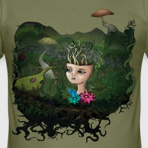 Mushroom T-Shirts - Männer Slim Fit T-Shirt