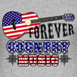 forever_country_music_guitar_flag_usa Tee shirts - Tee shirt près du corps Homme