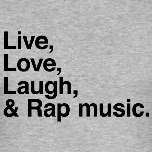live love laugh and rap T-shirts - Herre Slim Fit T-Shirt