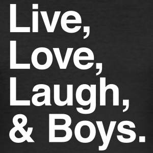 live love laugh and boys T-skjorter - Slim Fit T-skjorte for menn