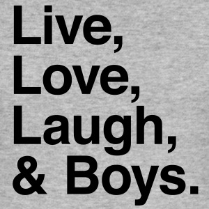 live love laugh and boys T-shirts - slim fit T-shirt