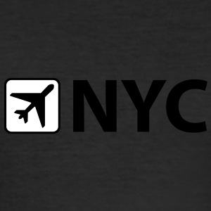 Airport - Flughafen - NYC - New York City - 3 Letter Code - Männer Slim Fit T-Shirt