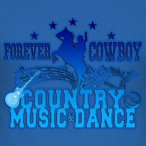 forever cowboy country music & dance Tee shirts - Tee shirt près du corps Homme