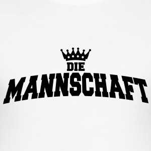 die mannschaft with crown T-Shirts - Männer Slim Fit T-Shirt