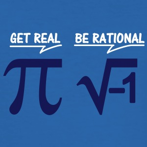 be rational - get real (2c) T-Shirts - Men's Slim Fit T-Shirt