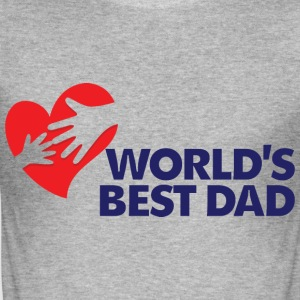 Worlds Best Dad 8 (dd)++ T-shirts - Slim Fit T-shirt herr