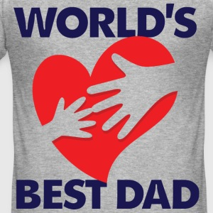 Worlds Best Dad 7 (dd)++ T-shirts - Slim Fit T-shirt herr