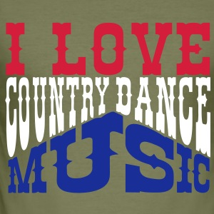 i love country dance music Tee shirts - Tee shirt près du corps Homme