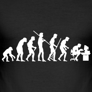 Evolution of Society - Männer Slim Fit T-Shirt