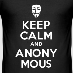 KEEP CALm and ANONYMOUS - Men's Slim Fit T-Shirt