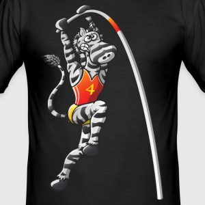 Olympic Pole Vault Zebra T-Shirts - Men's Slim Fit T-Shirt