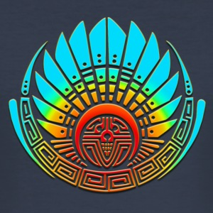 Crop circle - Mayan mask - Silbury Hill 2009 - Quetzalcoatl  - Aztec - Venus - 2012 - Symbol New Age / T-Shirts - Men's Slim Fit T-Shirt