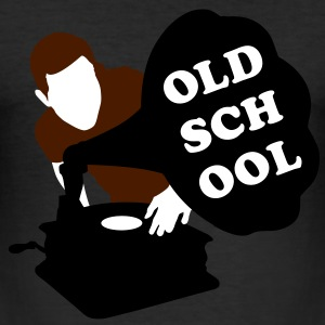 Old school DJ T-Shirts - Männer Slim Fit T-Shirt