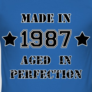 Made in 1987 T-Shirts - Men's Slim Fit T-Shirt