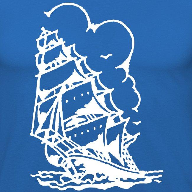 Matrosen Schiff im Sturm