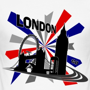 London - United Kingdom Union Jack - Men's Slim Fit T-Shirt