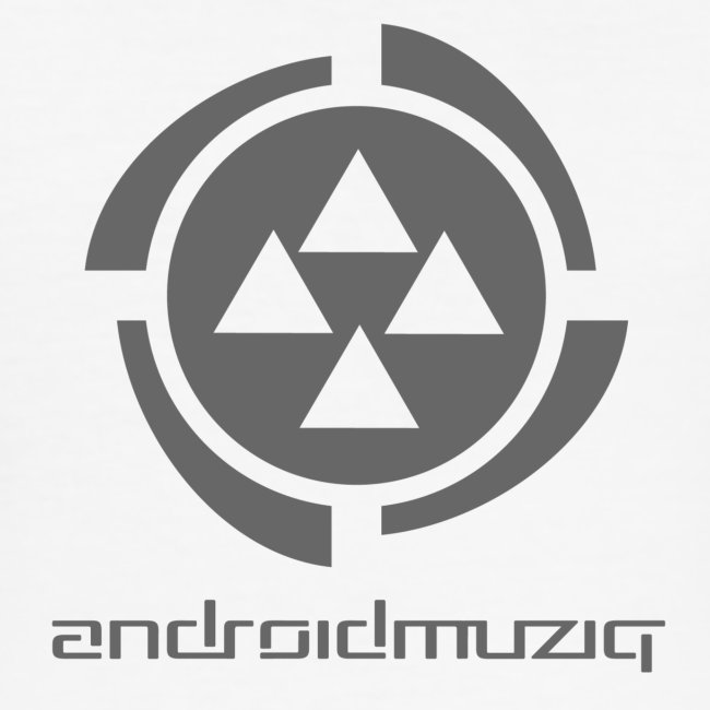 Android Muziq - Dark Grey logo on White