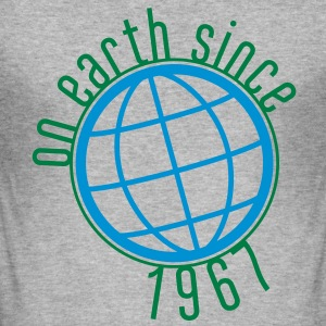 Birthday Design - (thin) on earth since 1967 (uk) T-Shirts - Men's Slim Fit T-Shirt