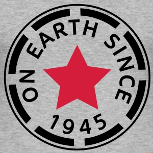 on earth since 1945 (sv) T-shirts - Slim Fit T-shirt herr