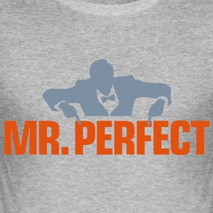 Mr Perfect 3 (2c)++ T-Shirts - Men's Slim Fit T-Shirt