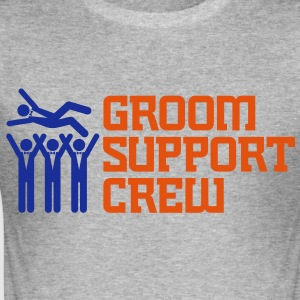 Groom Support Crew 2 (2c)++ T-skjorter - Slim Fit T-skjorte for menn