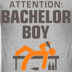 Attention Bachelor Boy 3 (dd)++ T-shirts - Herre Slim Fit T-Shirt