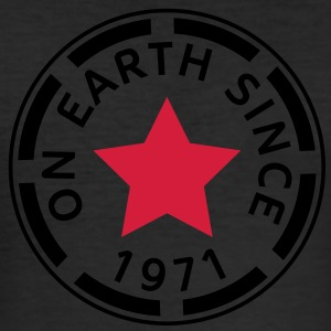 on earth since 1971 (uk) T-Shirts - Men's Slim Fit T-Shirt
