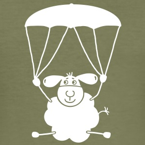 Sheep with parachute T-Shirts - Men's Slim Fit T-Shirt