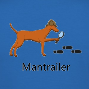 Mantrailing Vizsla T-shirts - Herre Slim Fit T-Shirt