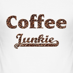 coffee junkie T-Shirts - Männer Slim Fit T-Shirt