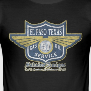 El Paso Texas Oil Service - Männer Slim Fit T-Shirt
