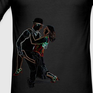 It Takes Two - Neon Tango Couple T-Shirts - Men's Slim Fit T-Shirt