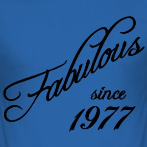 Fabulous since 1977 T-Shirts - Men's Slim Fit T-Shirt