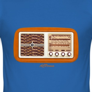 Vintage Radio T-shirts - Slim Fit T-shirt herr