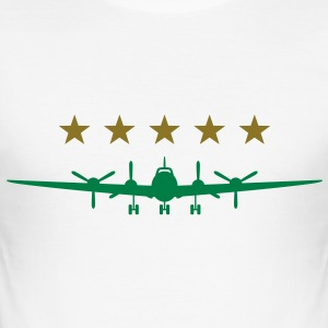 Airplane (2c)++ T-shirts - Slim Fit T-shirt herr
