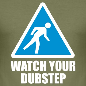 Watch your Dubstep 2c T-Shirts - Männer Slim Fit T-Shirt