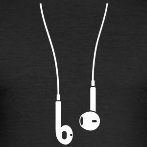 Phone/Pod 5 earphones 1clr T-Shirts - Men's Slim Fit T-Shirt