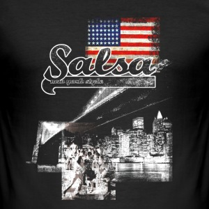 salsa your live  - Männer Slim Fit T-Shirt