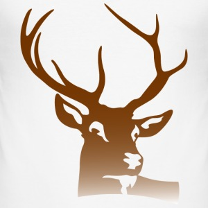 Deer Head (dd)++ T-Shirts - Men's Slim Fit T-Shirt