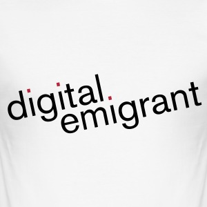 digital emigrant 2-farbig T-Shirts - Männer Slim Fit T-Shirt