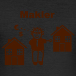 Immobilien Makler T-Shirts - Männer Slim Fit T-Shirt