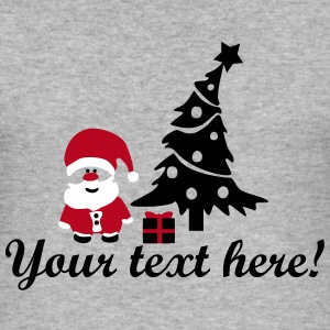 santa & christmas tree T-Shirts - Men's Slim Fit T-Shirt