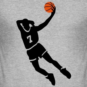 Basketball slam dunk T-Shirts - Männer Slim Fit T-Shirt